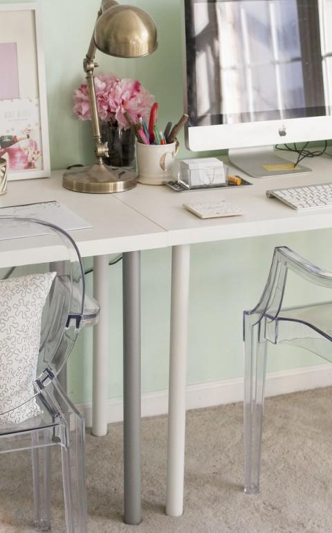 Ikea Hack One Leggy Gold Desk Dream