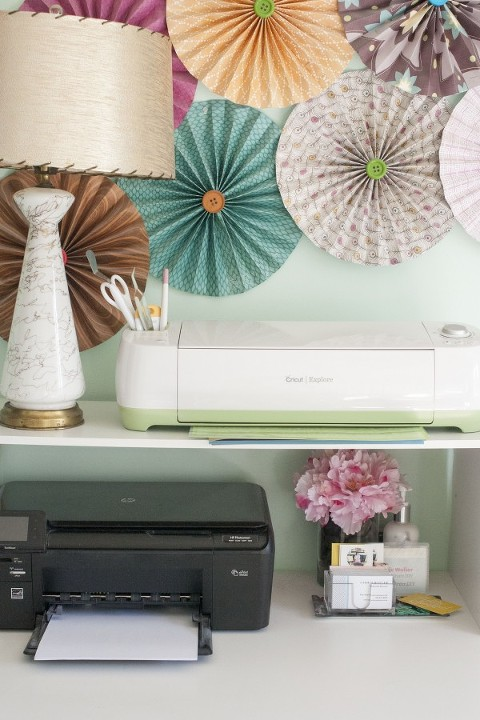 My Cricut Office Makeover - Dream Green DIY