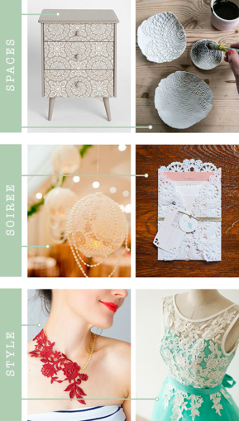 Spaces + Soirée + Style: Lace | Dream Green DIY