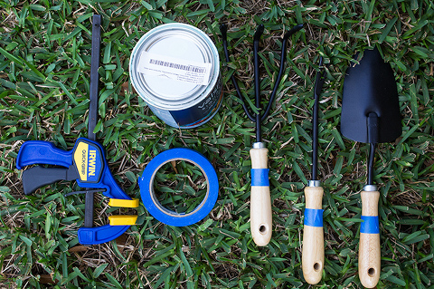 DIY Painted Dipped Garden Tools | Sarah Hearts + Dream Green DIY