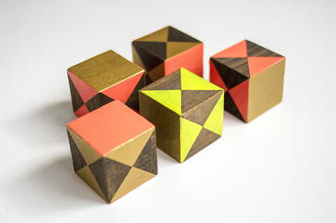 DIY Painted Children's Blocks   Dream Green DIY