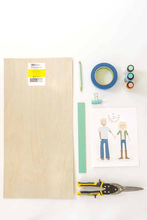 DIY Clipboard Wall Frame // Yellow Heart Art - Dream Green DIY