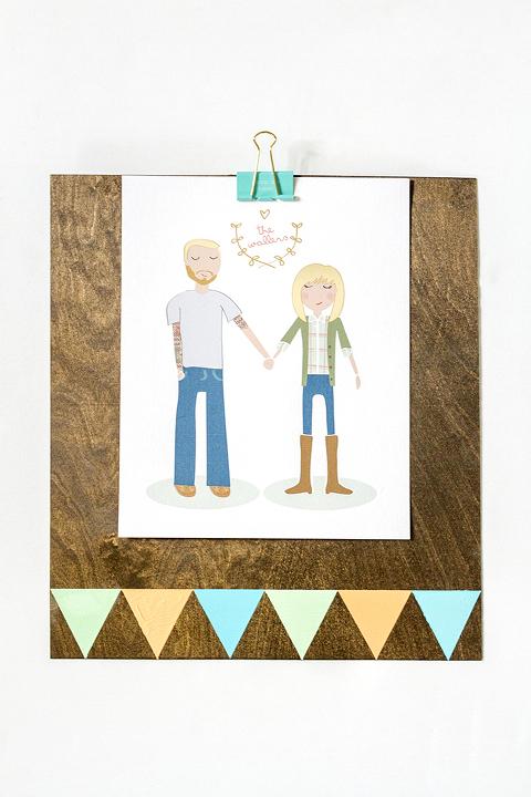 DIY Clipboard Wall Frame // Yellow Heart Art - Dream Green DIY