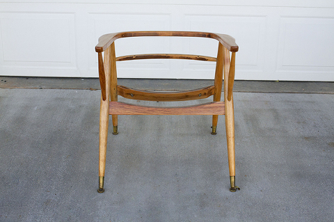 Mid-Century Side Chair, Before And After | Dream Green DIY