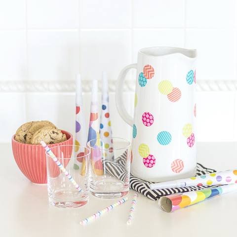 10 Minute DIY Polka Dot Pitcher | Dream Green DIY