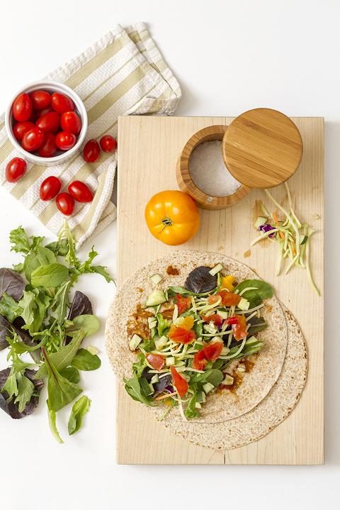 Simple Spring Veggie Wrap Recipe | Dream Green DIY