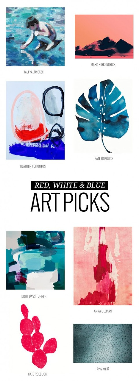 Red, White And Blue Art Picks | Dream Green DIY