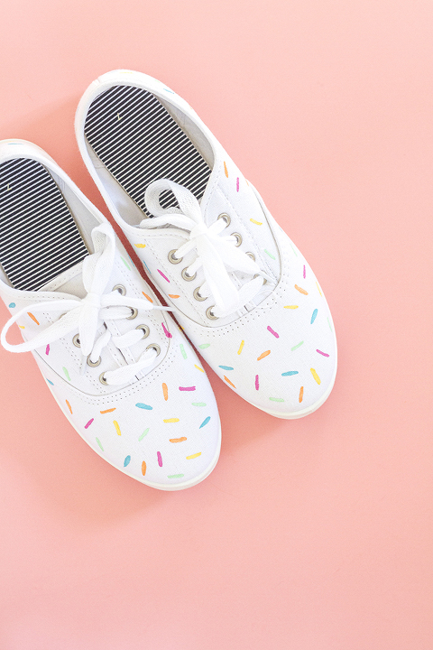 adc9a56ec5b970 DIY Painted Ice Cream Sprinkles Shoes