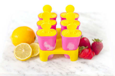 DIY Strawberry Lemonade Popsicles | Dream Green DIY