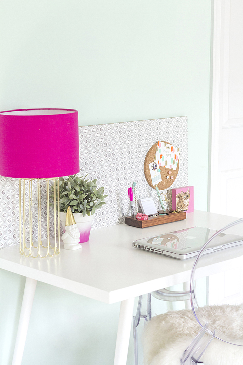 DIY Mid-Century Style IKEA Desk Hack | Dream Green DIY