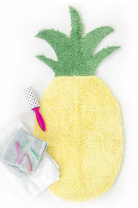 How To Make A Pineapple Shaped Bath Mat