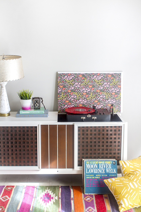 How To Paint A Retro Record Cabinet | Dream Green DIY