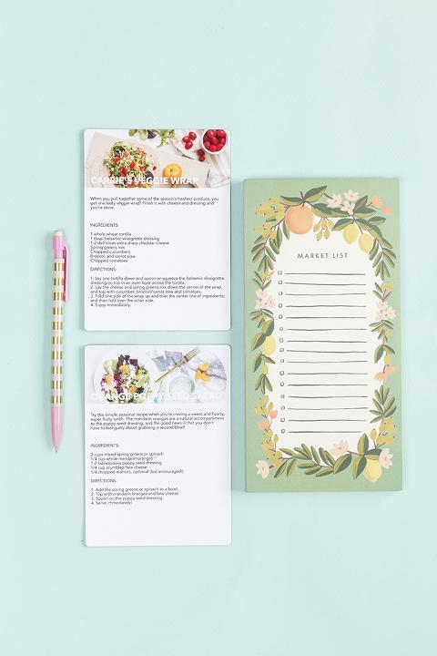 How To Make Custom Recipe Card Magnets And Notepads | Dream Green DIY + @pinholepress