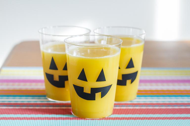 Diy Carved Pumpkin Face Glasses Pumpkin Punch Recipe