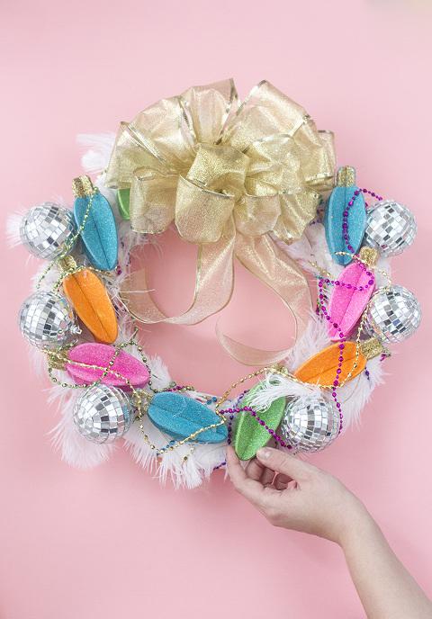 DIY Glamorous, Over-The-Top Christmas Wreath | Dream Green DIY