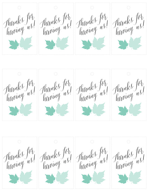 "10-Minute Printable Holiday ""Thank You"" Tags 
