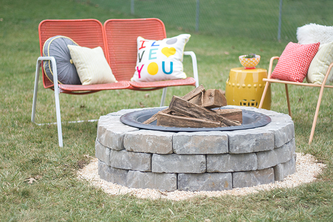 how to make a diy built in flagstone fire pit dream green diy