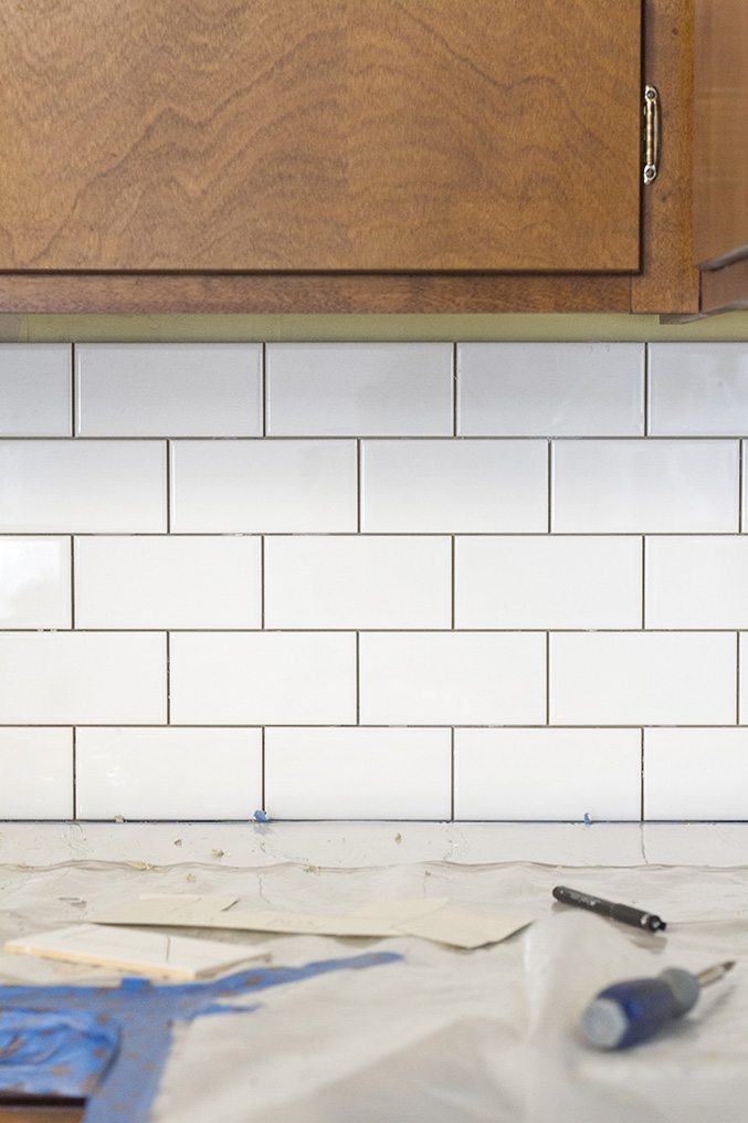 A White Subway Tile Backsplash Story Dream Green Diy