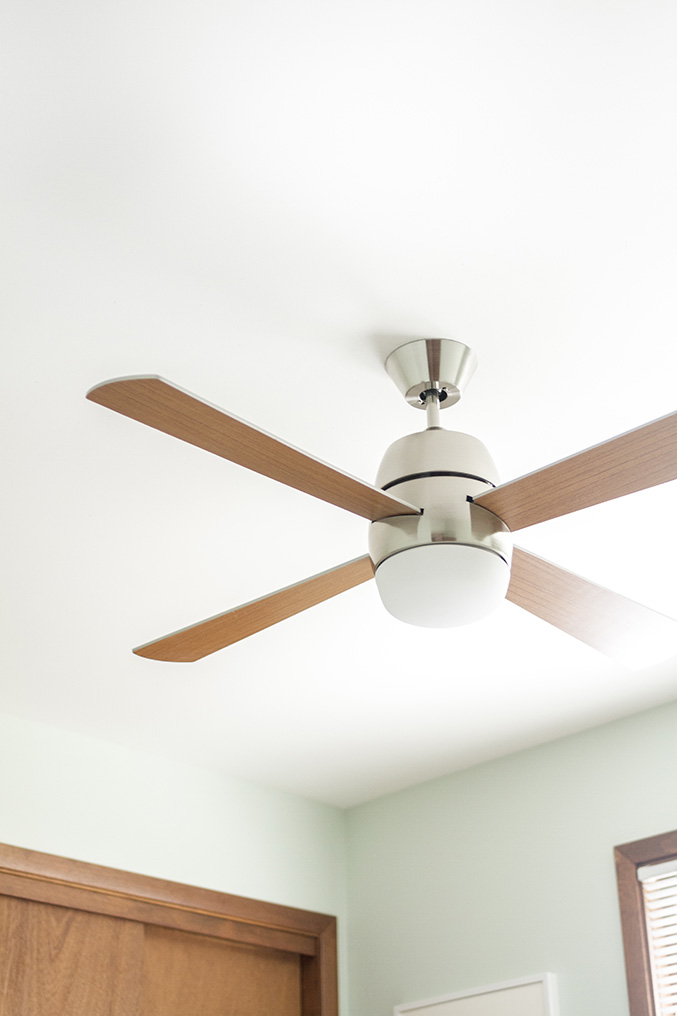 Retro Revival: Mid Century Inspired @lampsplus Ceiling Fan |  Dreamgreendiy.com