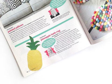 DIY Pineapple Rug Featured In HGTV Magazine | dreamgreendiy.com