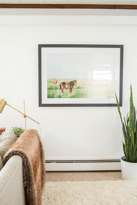 A Cozy Boho Basement Makeover | dreamgreendiy.com + @photosdotcom