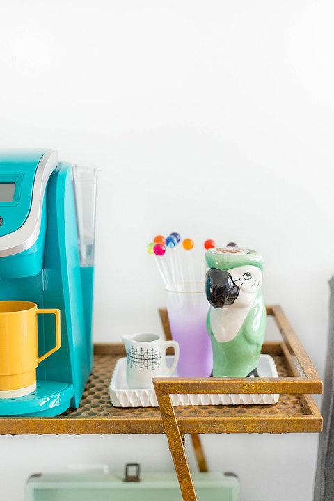 How To Style A Bar Cart Coffee Buffet | dreamgreendiy.com + @wayfair
