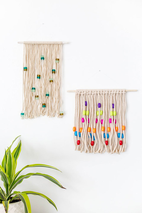 DIY Bohemian Beaded Knots Wall Hanging | dreamgreendiy.com + @orientaltrading