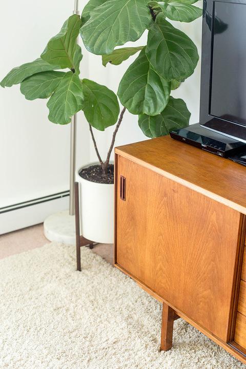 Thrifted Mid-Century Console | dreamgreendiy.com