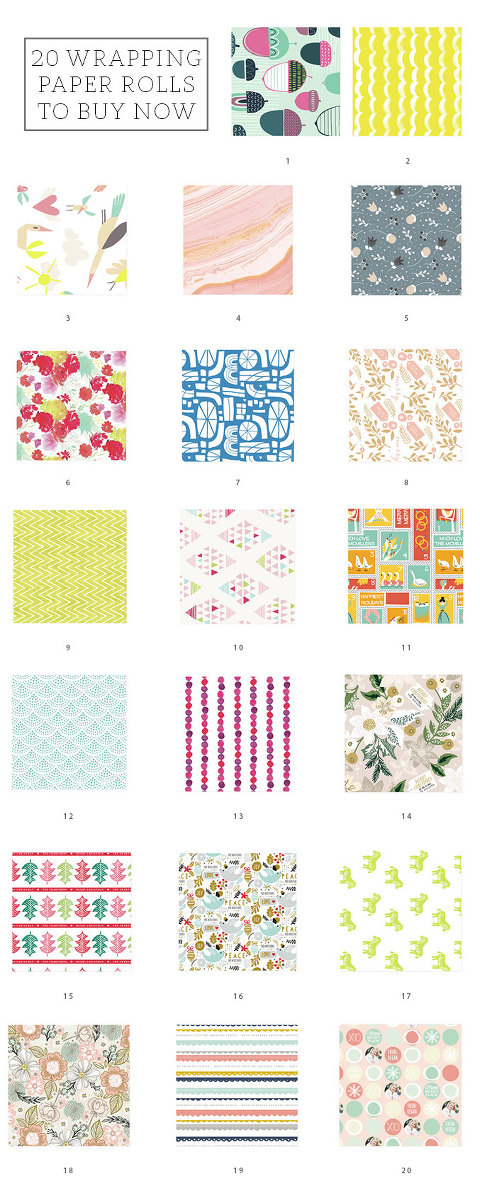 20 Wrapping Paper Rolls To Buy Now | dreamgreendiy.com