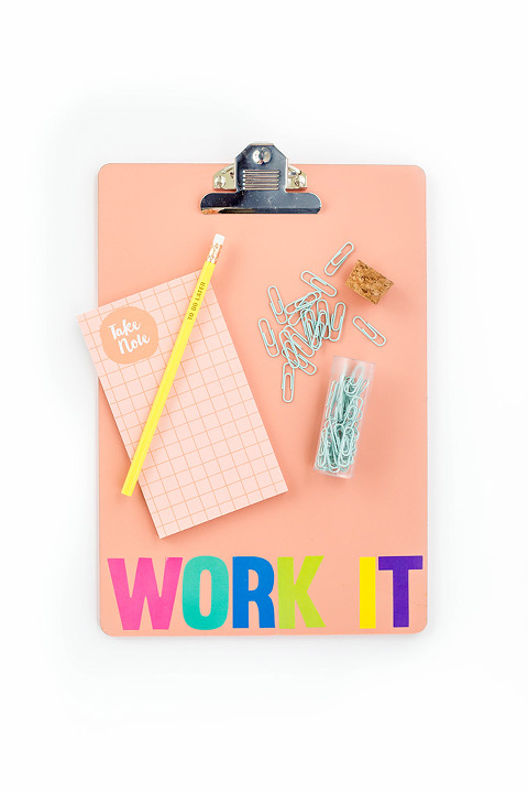 DIY Work It Back-To-School Clipboard