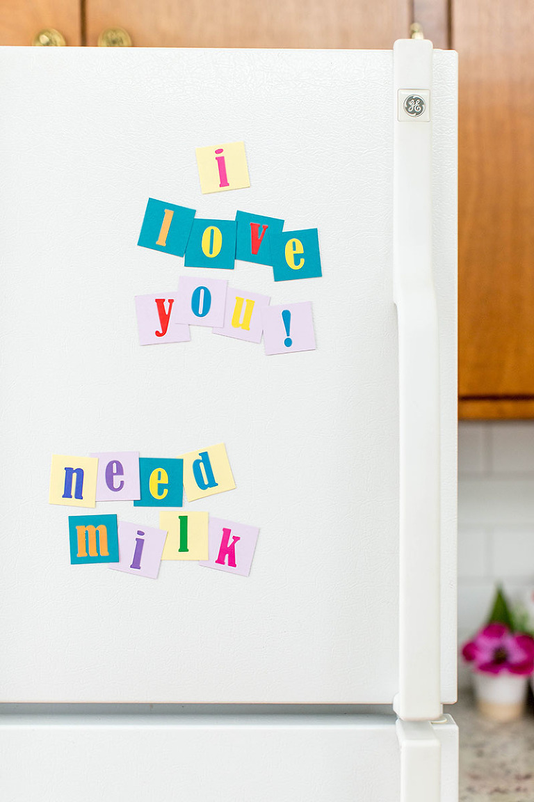 DIY Magnetic Alphabet Message Pieces | dreamgreendiy.com + @orientaltrading
