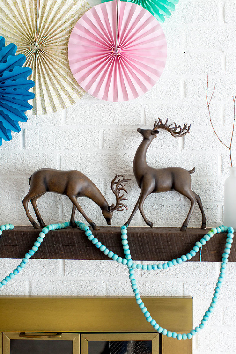 How To Style A Colorful Christmas Mantel | dreamgreendiy.com + @orientaltrading