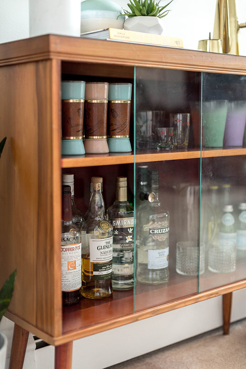 Gentil A Retro Bar Cabinet U0026 Portrait | Dreamgreendiy.com