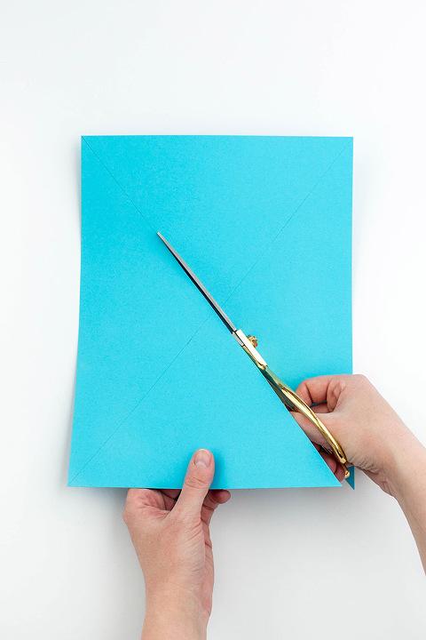 How To Make DIY 2D Color Block Paper Frames - Dream Green DIY