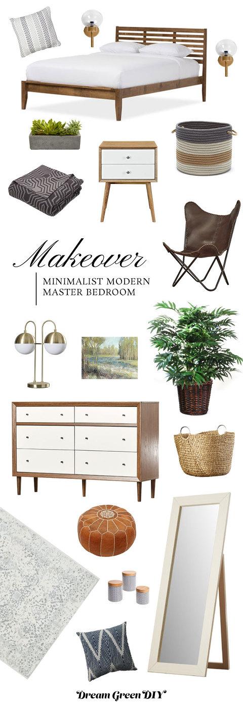 A Minimalist Modern Master Bedroom Mood Board
