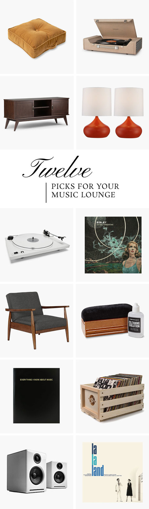 Everything You Need For Your Retro-Inspired Music Lounge | dreamgreendiy.com