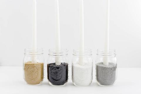 Minimalist Mason Jar Candle Holder   dreamgreendiy.com + @orientaltrading #ad
