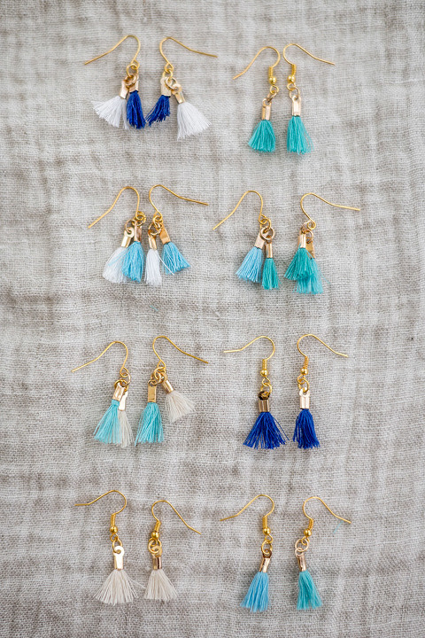 DIY Mini Dangle Tassel Earrings | dreamgreendiy.com + @orientaltrading