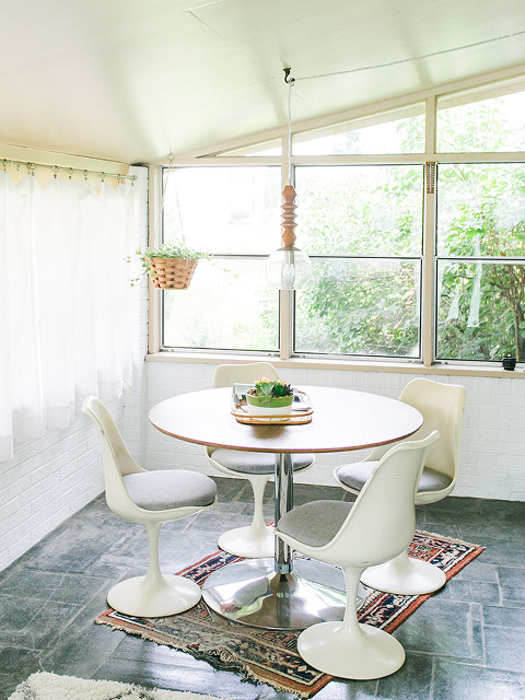 Painted White Brick Sunroom: The Reveal