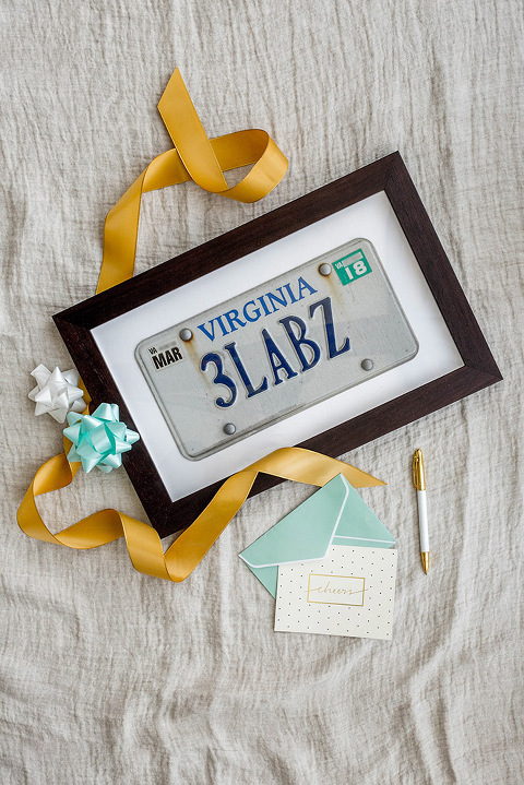 Custom Framed License Plate Birthday Gift Idea | dreamgreendiy.com + @framebridge