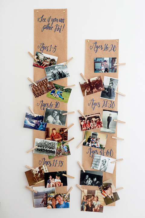 DIY Birthday Photo Guessing Game Banner