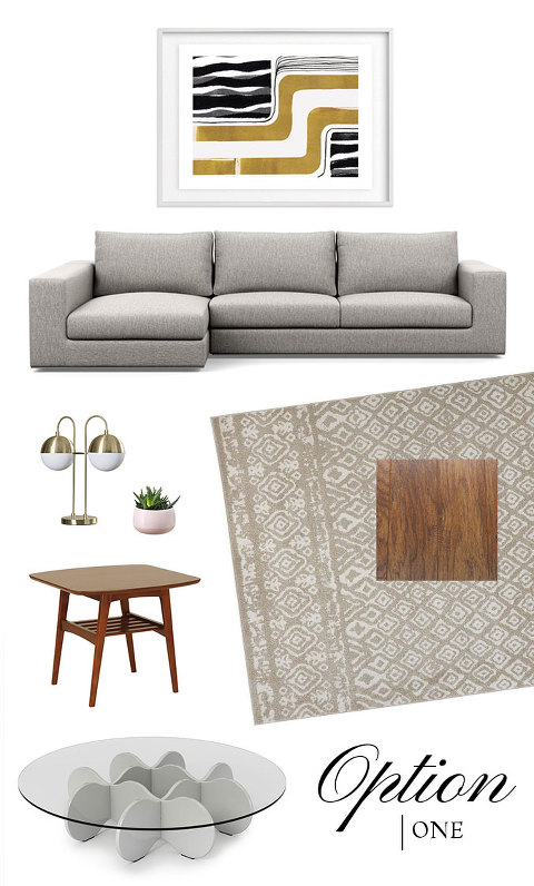 Help Us Choose Our Family Room Mood Board: Option 1