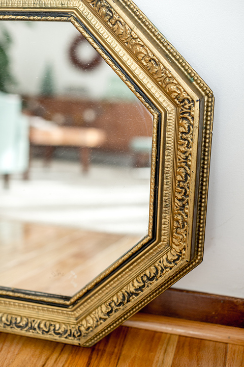Updating An Ugly Thrifted Hexagon Mirror
