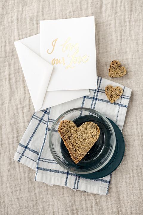 Heart-Shaped Valentine's Day Banana Bread