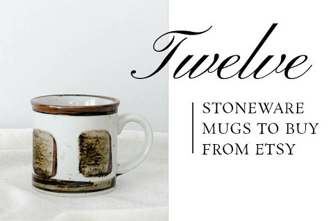 12 Stoneware Mugs To Buy From Etsy