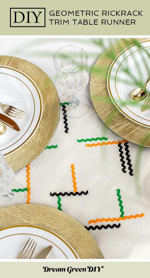 DIY Rickrack Striped Table Runner