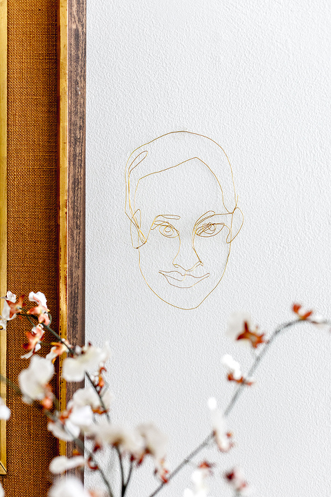 DIY Wire Portraits With Printable Templates