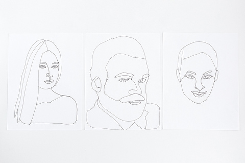 DIY Wire Portrait With Printable Template
