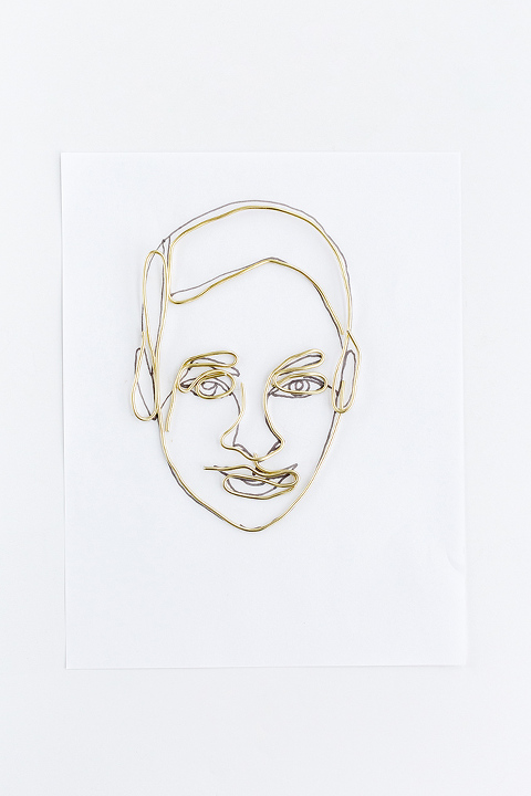 Diy Wire Portrait With Printable Template Dream Green Diy