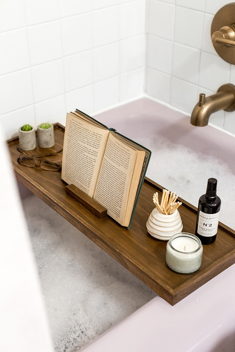 DIY Waterproofed Wood Bath Tray